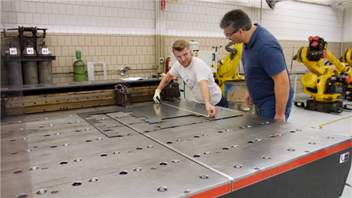 ABE student gets hands-on training in sheet metal career pathway programs